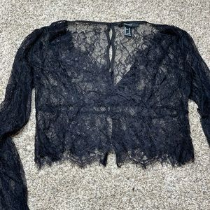 Long Sleeve Lace Top - Forever 21